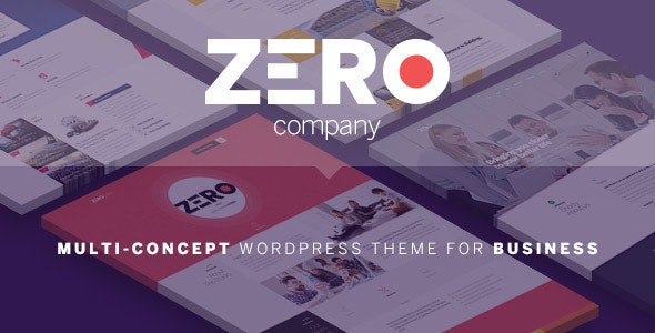 Zero - Corporate Creative WordPress Theme - Creative WordPress