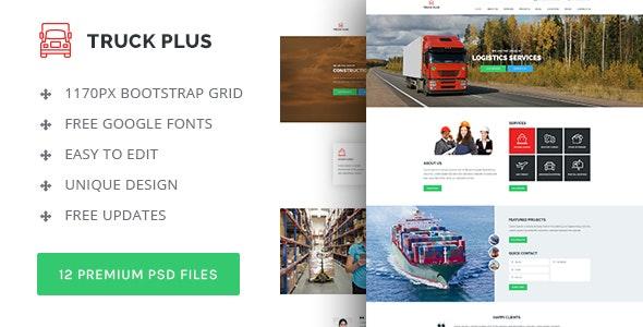 Truck Plus - Transportation and Logistics PSD Template  - Business Corporate