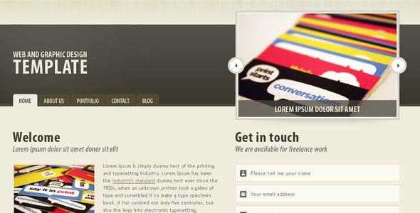 Dark brown portfolio theme - Portfolio Creative