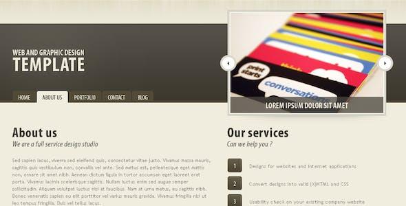 Dark brown portfolio theme