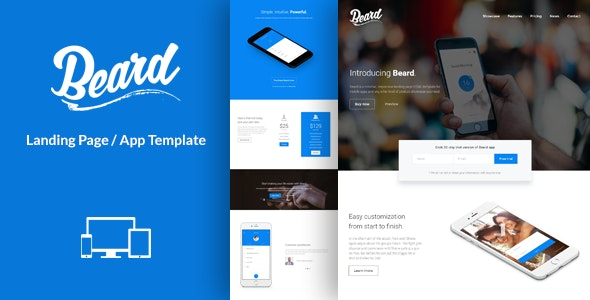 Beard - App Landing Page HTML Template - Technology Landing Pages