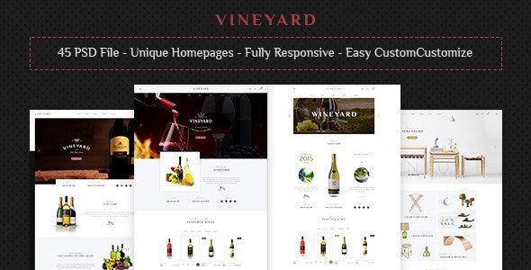 VINEYARD - E-Commerce and Blog PSD Theme - PSD Templates