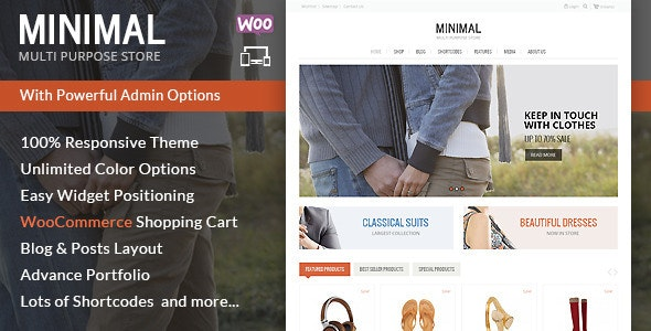 Minimal Multi Purpose - WooCommerce Theme - WooCommerce eCommerce