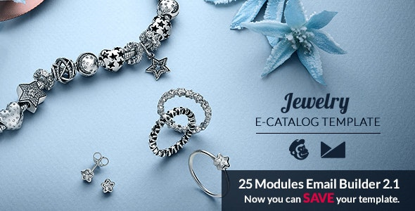 Jewelry Email Template + Online Emailbuilder 2.1 - Catalogs Email Templates