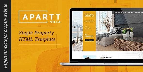APARTT VILLA- Single Property HTML Template - Business Corporate