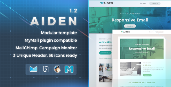 Aiden | Responsive Email Template - Newsletters Email Templates