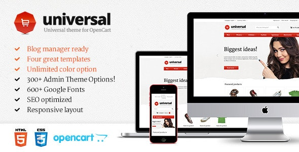 Universal - Premium OpenCart Template - OpenCart eCommerce