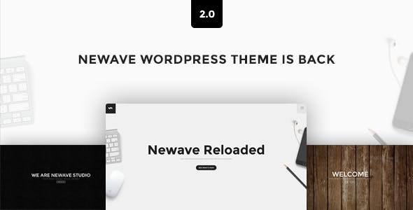 Newave - WordPress Responsive One Page Parallax