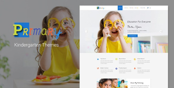 Primary – Kids & Kindergarten School PSD Template - Children Retail