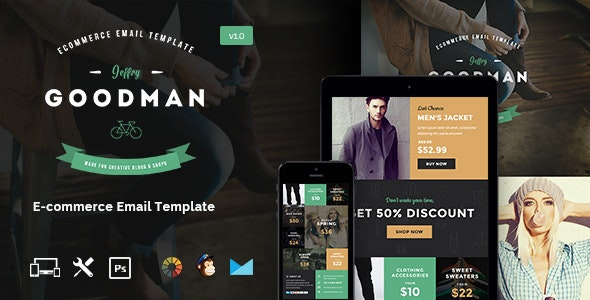 JG - E-commerce Email Template + Builder Access - Email Templates Marketing