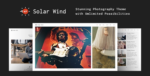 Photography WordPress Theme - SolarWind - Photography Creative