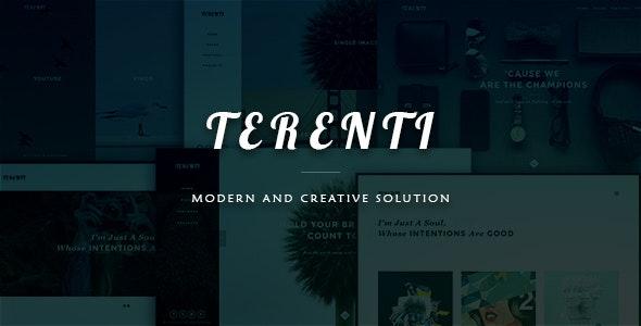 Terenti - Creative Portfolio / Agency Template - Creative Site Templates
