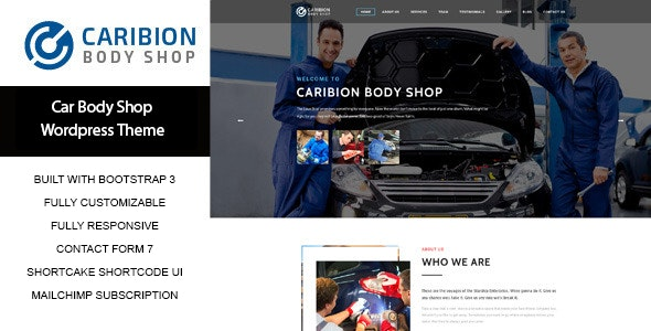 Caribion - WP Theme for Car Mechanic and Repair shop - Business Corporate