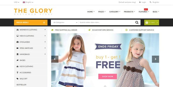 Fashion Responsive Premium Magento Themes & Apparel Clothes Boutique Store | New Glory