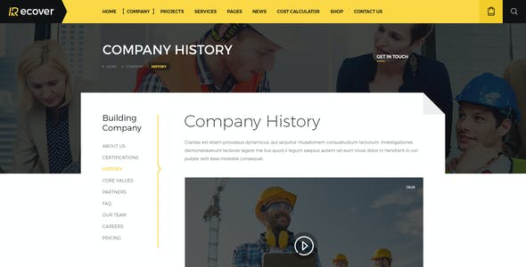 Recover - Construction & Building PSD Template