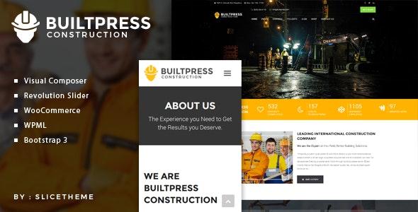 BuiltPress - Building Construction WordPress Theme - Business Corporate