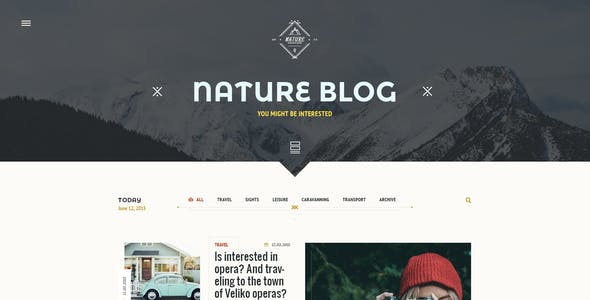 NorwayTheme - Nature Travel PSD Template
