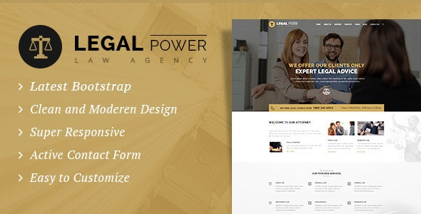 Legal Power - Law Firm HTML Template - Business Corporate