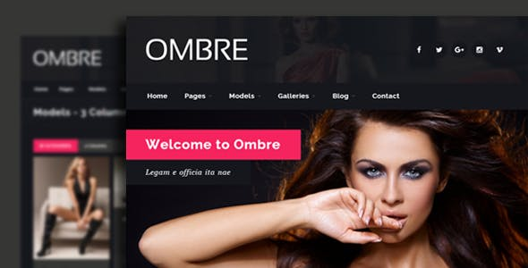 OMBRE - Model Agency Fashion Html Template