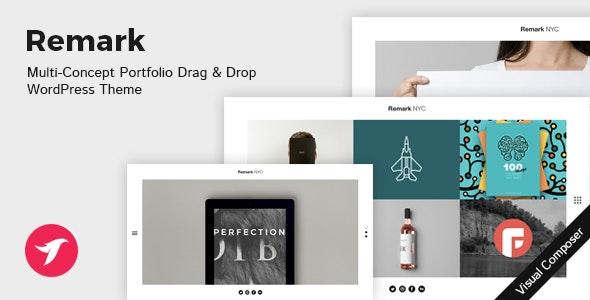 REMARK - Multi Concept Portfolio & Agency WordPress Theme - Portfolio Creative