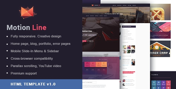 MotionLine Agency Portfolio HTML + PSD Template  - Creative Site Templates