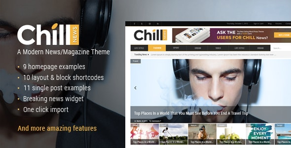 Chill News - Magazine Theme - News / Editorial Blog / Magazine