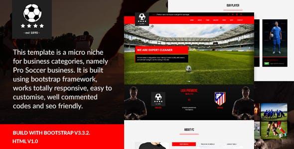 Pro Soccer - Football Club Template