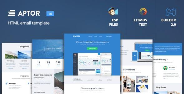 Aptor - HTML Email Template + Builder 2.0