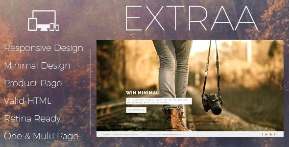 Extraa - Creative Minimal Drupal 7.6 Theme - Portfolio Creative