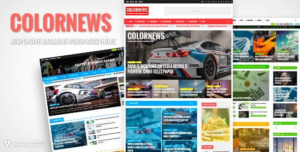 ColorNews - News/Magazine WordPress Theme - News / Editorial Blog / Magazine