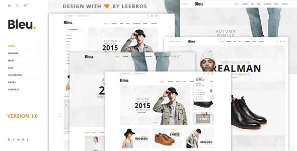 Bleu - Fashion Store HTML Template - Fashion Retail