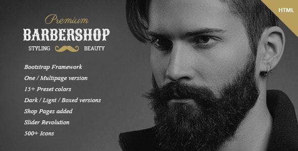 BarberShop - Hair Saloon Spa Tattoo HTML Template - Health & Beauty Retail