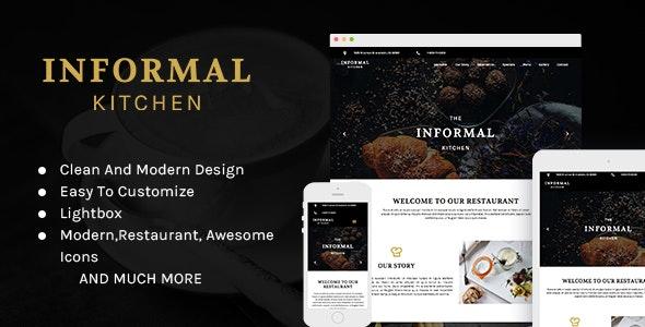 Informal Kitchen - Modern Restaurant Muse Theme - Creative Muse Templates