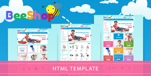 Bee Shop - Kids Store HTML Template - Shopping Retail