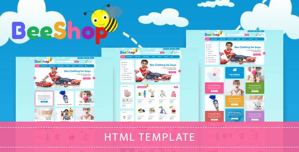 Bee Shop - Kids Store HTML Template