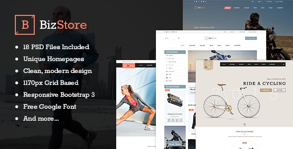 BizStore - Multipurpose eCommerce PSD Template - Retail PSD Templates