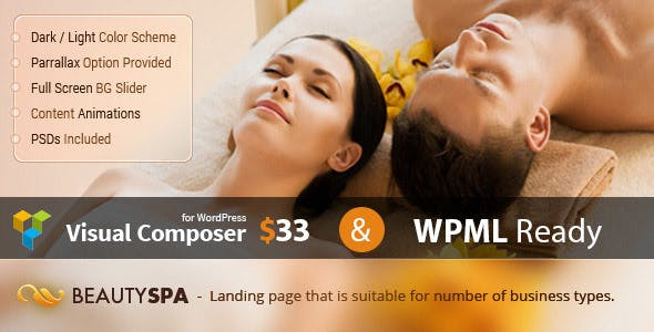 Spa - WordPress Theme with Page Builder