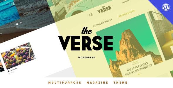 Verse - Multipurpose WordPress Magazine Theme - Blog / Magazine WordPress
