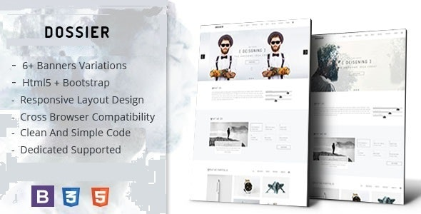 Dossier - Minimalist Modern Portfolio Template - Portfolio Creative