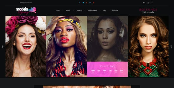 Models Agency - premium portfolio PSD Template