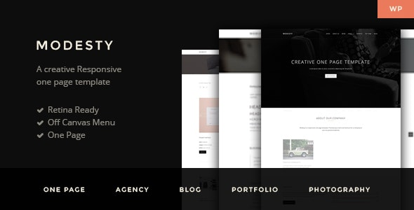Modesty - MultiPurpose One Page WordPress Theme - Business Corporate