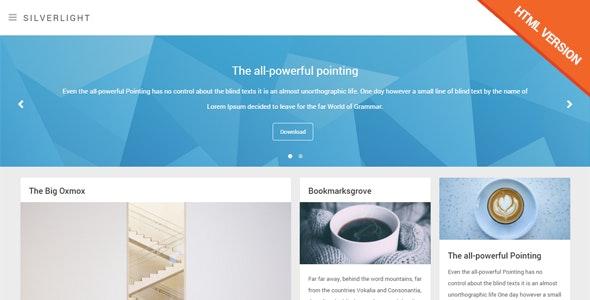 Silverlight - Responsive Masonry HTML Template - Portfolio Creative