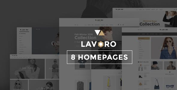 Lavoro - Fashion Store HTML template using bootstrap 5