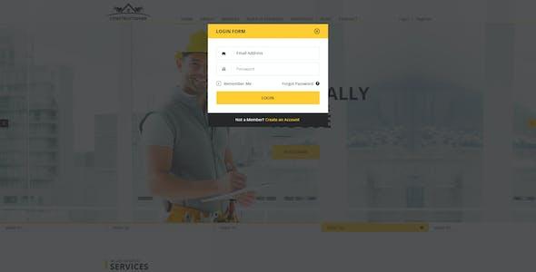Constructioner - Modern Construction PSD Template