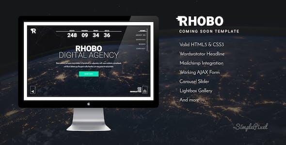 Rhobo - Creative Coming Soon Template