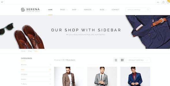 Serena - Fashion eCommerce PSD Template
