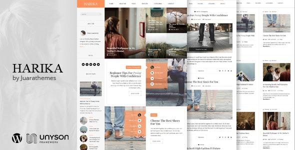 Harika | Clean Personal WordPress Blog Theme - Personal Blog / Magazine