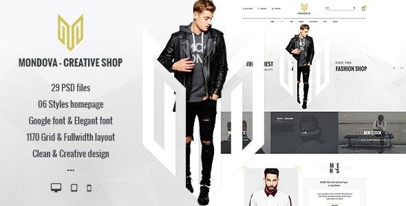 Mondova - Creative Shop PSD Template - Fashion Retail