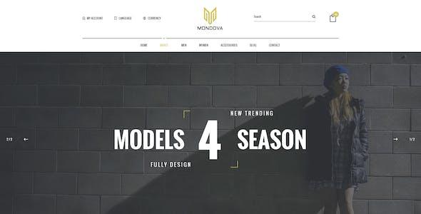 Mondova - Creative Shop PSD Template