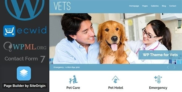 VETS - Veterinary Medical Health Clinic WP Theme - Health & Beauty Retail